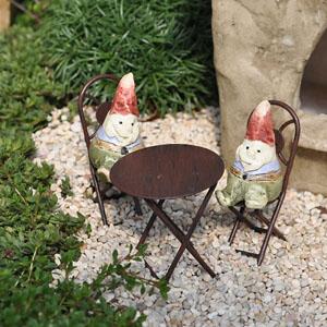 Tiny Bistro Set With Mini Gnomes
