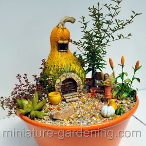 Okay Back To The Fairy Garden When Fall Comes Around Each Year You Will See All Sorts Of Options For Miniature Accessories And Decorations