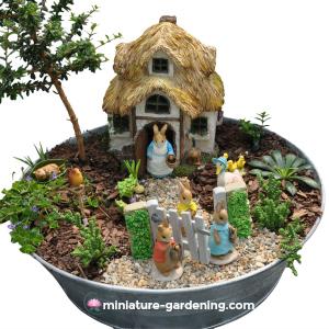 Miniature Gardening Peter Rabbit and Friends
