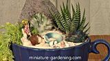 Mermaid Tea Cup Planter